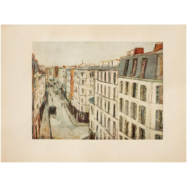 Lithograph 1950s Maurice Utrillo, Parisian Street First Edition Lithograph For Sale - Image 7 of 8