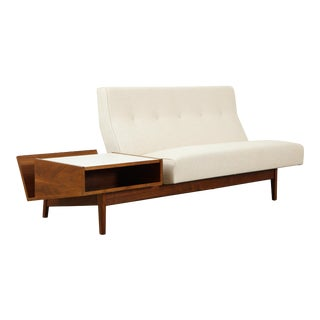 Jens Risom Sofa With Magazine Table For Sale