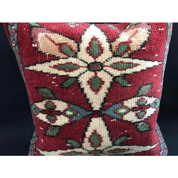 Textile Colorful Turkish Wool Bohemian Pillow Cover For Sale - Image 7 of 11