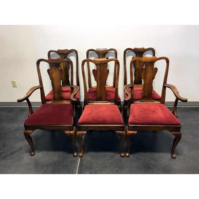 Statton Oxford Antique Cherry Queen Anne Dining Chairs ...