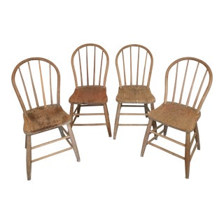 Rustic Side Chairs - Set of 4 For Sale