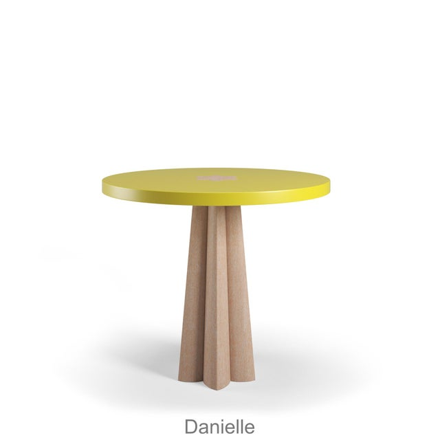 Danielle Side Table - Natural Cerused Oak - Citron For Sale In Los Angeles - Image 6 of 6
