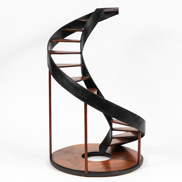 Late 19th century model of a circular staircase from France.