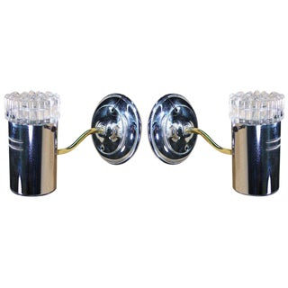 Bubble Glass Wall Sconces in the Manner of Limburg- A Pair For Sale