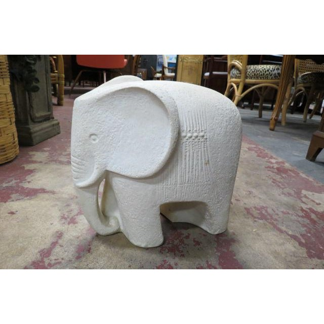 1960s Vintage Mid Century Modern Carved Stone Elephant Statue For Sale - Image 5 of 5