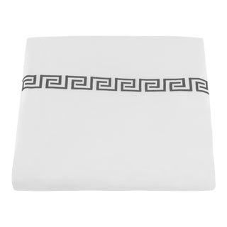Greek Key King Duvet Cover in Charcoal For Sale