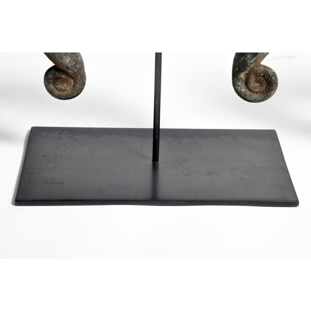 Mid Century Vintage Yoruba Currency Torque on Metal Stand For Sale - Image 11 of 13