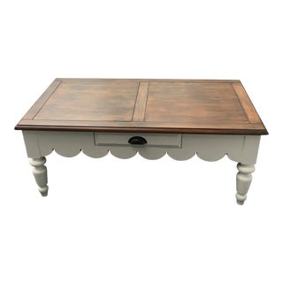 Refinished Cottage-Style Coffee Table For Sale