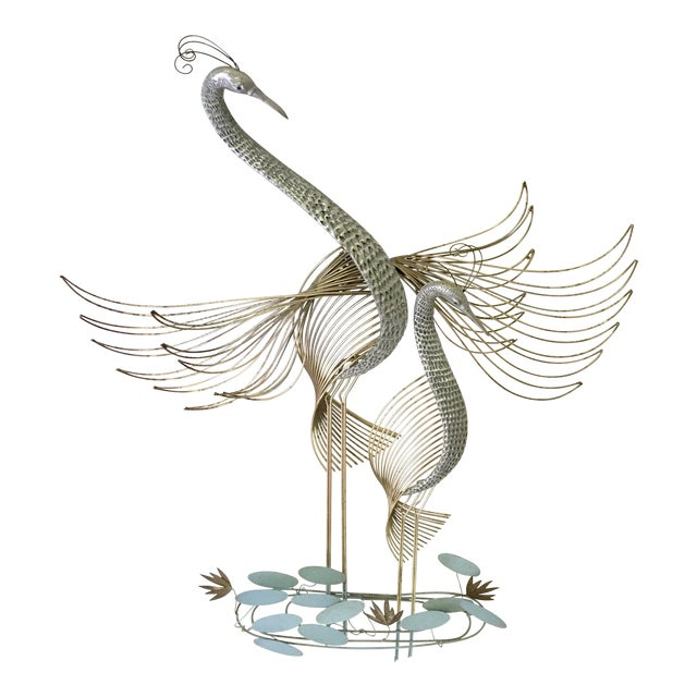 Curtis Jere Signed Cranes Wall Sculpture - Image 1 of 6