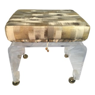 1960s Vintage Lucite Vanity Stool For Sale