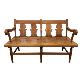Early American Carved Entry Bench