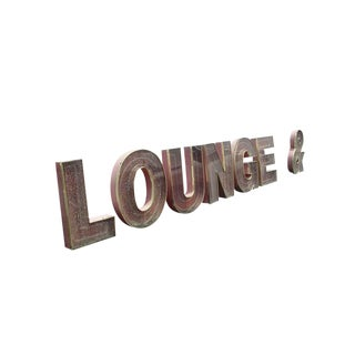 Vintage Neon Lounge and Ampersand Sign For Sale