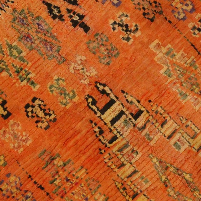 Berber Tribes of Morocco Vintage Berber Moroccan Rug, 4'11x7'11 For Sale - Image 4 of 5
