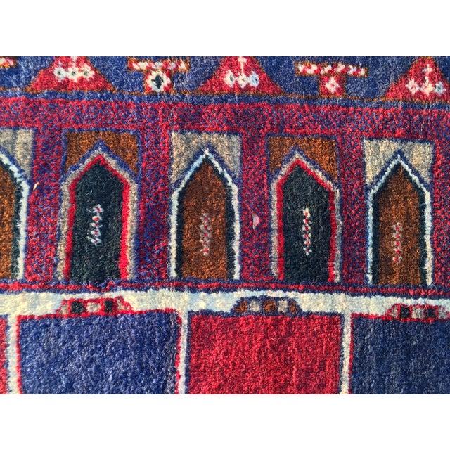 Baluchi Persian Rug - 2′11″ × 4′10″ - Image 8 of 8