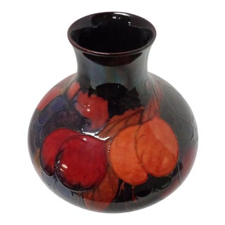 20th Century Arts and Crafts Moorcroft Flambe Pomegranate Bulbous Vase For Sale