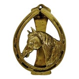 Image of Vintage Brass Door Knocker For Sale