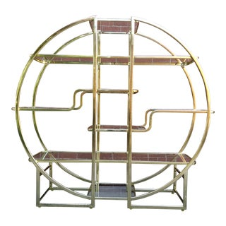 1960's Mid Century Hollywood Regency Glass Etagere For Sale
