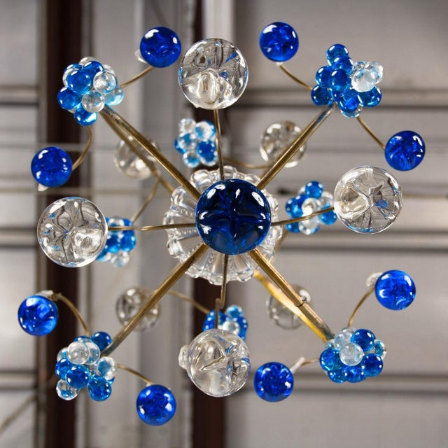 Vintage Blue Murano Chandelier For Sale - Image 9 of 10