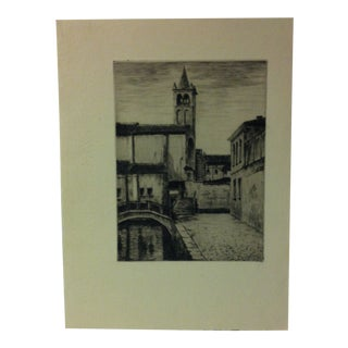 "Original Black & White Print on Paper, ""Canal Street"", Circa 1970 For Sale"