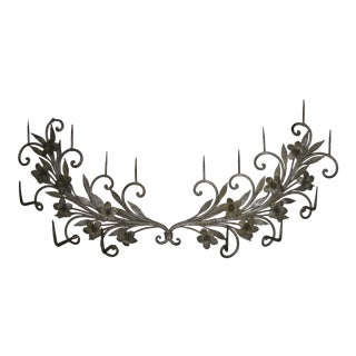 Antique 19th Century Spanish Wrought Iron Pricket Sconce For Sale