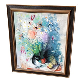 Floral Painting by Patricia Cunningham For Sale