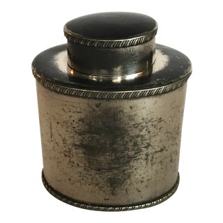 Silver Plate Tea Caddy Container For Sale