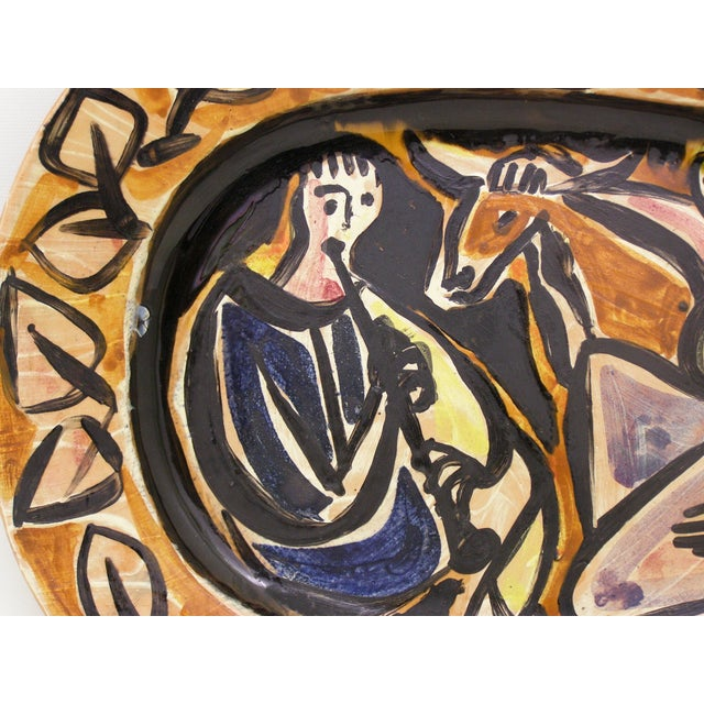 Picasso Style Mid-Century Modern Ceramic Wall Plaque Sculpture Plate MCM - Image 5 of 11