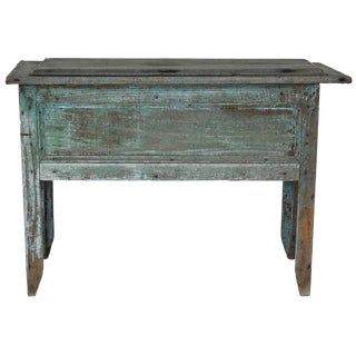 20th Century Rustic Lift Top Storage Chest For Sale