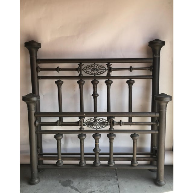 Antique Full Size Brass Bed For Sale - Image 11 of 11