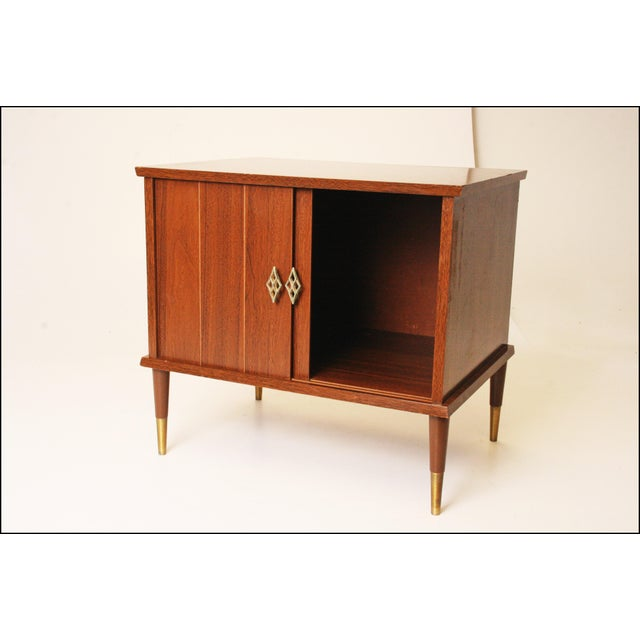 Mid-Century Modern Wood Record Cabinet - Image 3 of 11