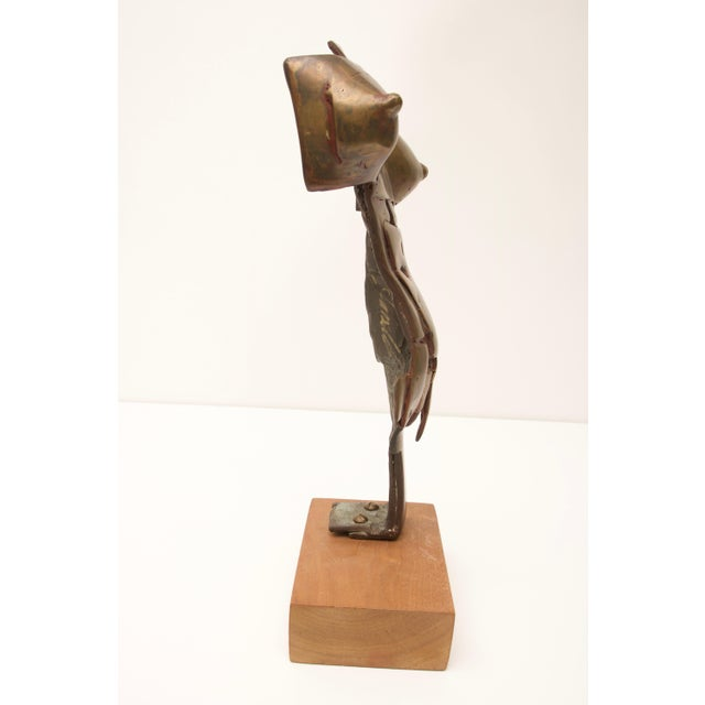 Abstract Mid-Century Modern Brutalist Bronze Sculpture of Female Torso For Sale - Image 3 of 10