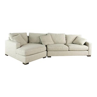 Modern Room & Board Metro Contemporary Gray Upholstered Sectional Sofa For Sale