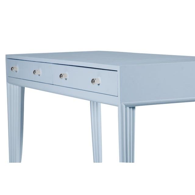 David Francis Barcelona Desk - Blue For Sale - Image 4 of 6