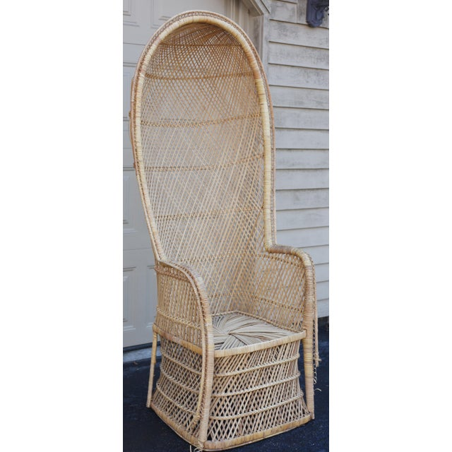 Vintage Rattan Porter Chair - Image 2 of 9