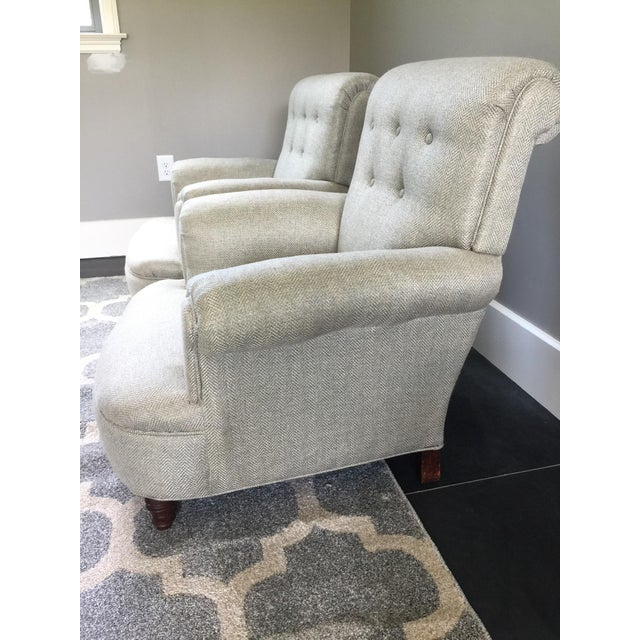 Wood French Club Chairs - a Pair For Sale - Image 7 of 12