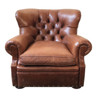 Ralph Lauren Home Writer's Chair and Ottoman For Sale