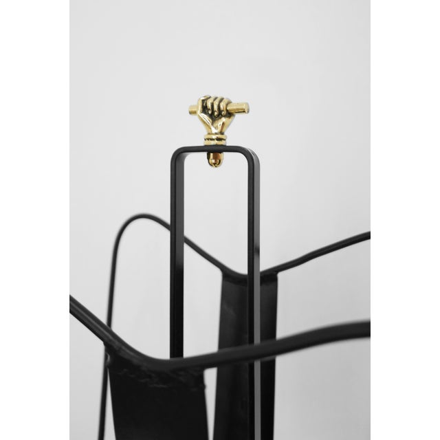 1940s Jacques Adnet Magazine Stand C. 1940 - 1949 For Sale - Image 5 of 6