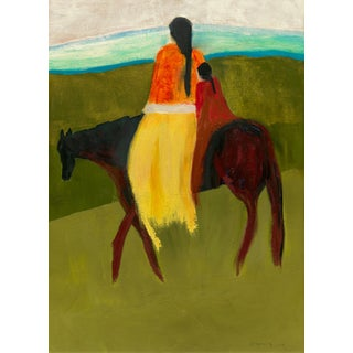 """""""I Am Coming With You"""" Contemporary Figurative Abstract Art Print For Sale"""