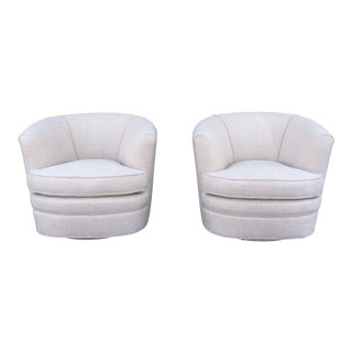 Hollywood Regency Pair of Swivel Chairs