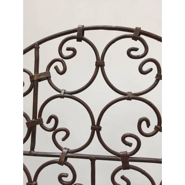 Mid 20th Century Hand-Forged Iron Three Panels Folding Moorish Screen For Sale - Image 5 of 9
