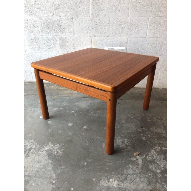 1980s Vintage Mid Century Danish Modern Teak Side Table by Trioh Mobler Denmark For Sale - Image 5 of 11