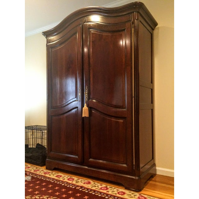 Stunning Grange Quality French TV Wood Armoire Cabinet High quality custom crafted bonnet top cabinet by 'Grange'. Made in...