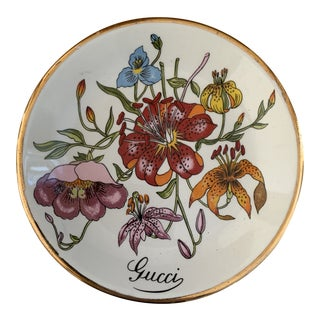 Vintage Gucci Accornero Flowers Catchall Ashtray For Sale