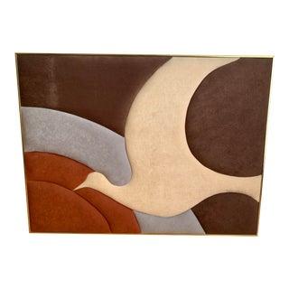 Vintage Mid Century Brejtfus Contemporary Art Piece For Sale