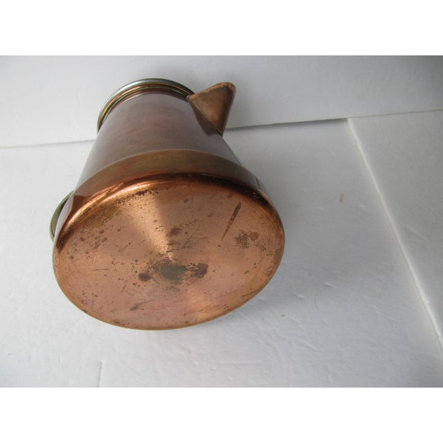 Vintage Copper & Brass Coffee Pot - Image 4 of 7