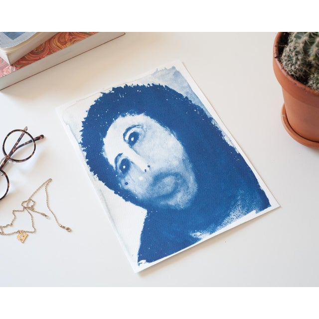 Ecce Homo Spanish Jesus Meme Cyanotype Print For Sale - Image 4 of 4