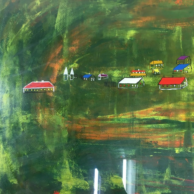 Late 20th Century Abstract Landscape Painting, Framed For Sale - Image 4 of 8