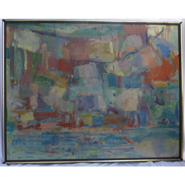 Signed Abstract Oil Painting by Jean Gunther, Listed Artist - Image 2 of 13