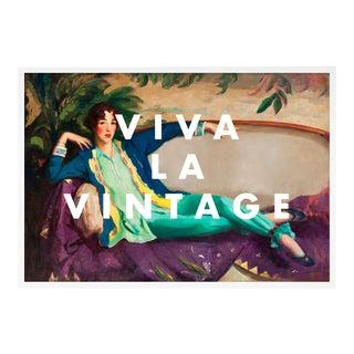 Viva La Vintage by Lara Fowler in White Framed Paper, Medium Art Print For Sale