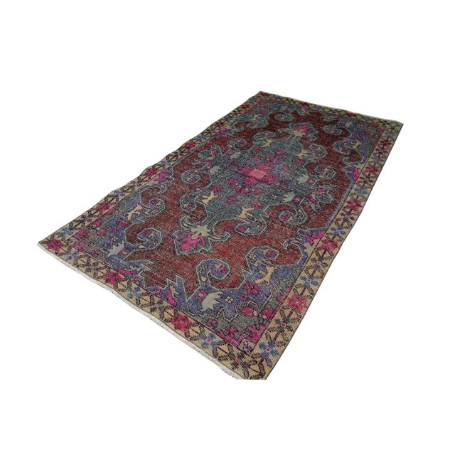 This is a unique vintage rug that would be a nice rug for any collection! The piece was made in the 1970s. Material:...